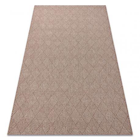 Dywan HOUSE SZNURKOWY SIZAL 40350 Romby, płaskie tkanie, efekt wełny beż 80x150 cm