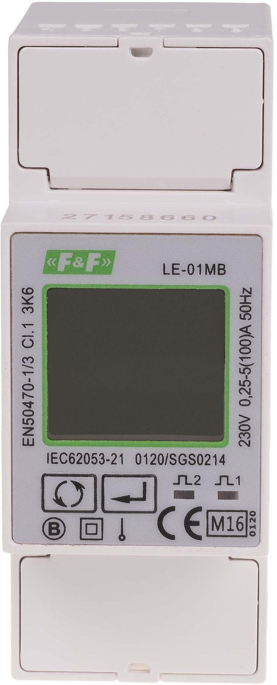 Jednofazowy licznik zużycia energii LE-01MB
