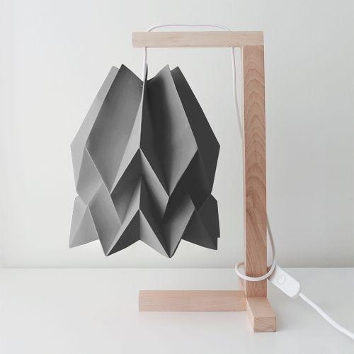 Lampa stołowa Table Alpine Grey Orikomi szara oprawa w minimalistycznym stylu
