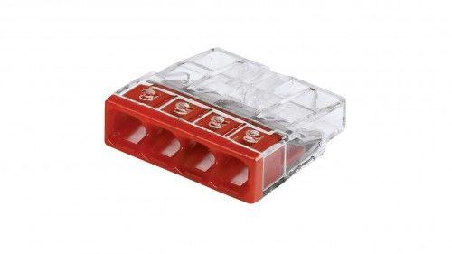 Szybkozłączka WAGO Compact 4 x 0,5-2,5 mm2 transparentna