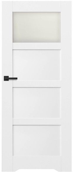 Drzwi bezprzylgowe z podcięciem Connemara 80 prawe kredowo-białe