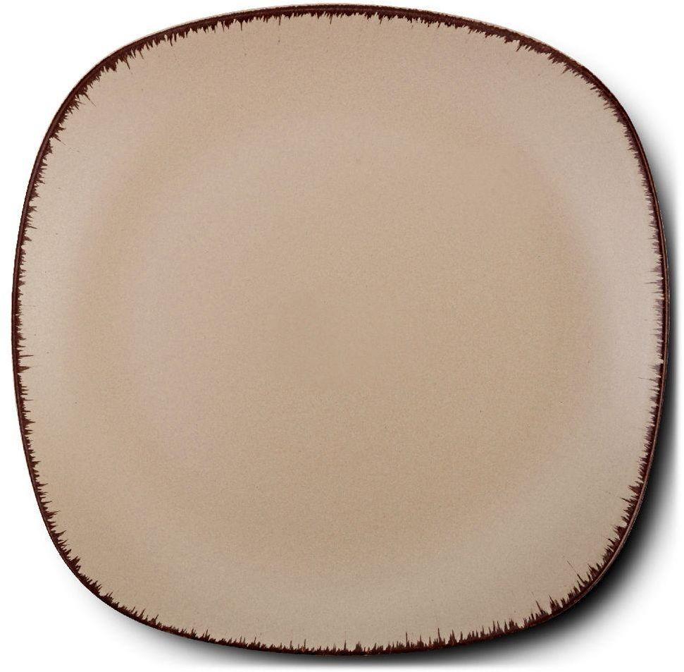 Talerz ceramiczny kwadratowy WHITE SUGAR deserowy płytki 20 cm