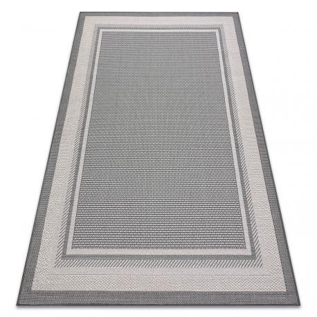 Dywan SISALO SZNURKOWY SIZAL Ramka 2891 antracyt / beż 80x150 cm