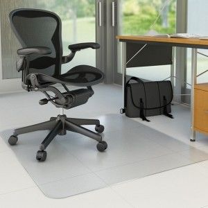 Mata pod krzesło na twarde podłogi prostokątna Q-CONNECT 117x152 cm /KF15901/
