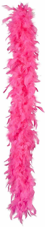 Boland 52614 Boa z piórami, akcesorium, różowy, szal, lata 20, The great Gatsby, impreza tematyczna, karnawał