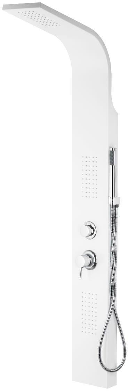 Corsan ALTO panel prysznicowy z mieszaczem biały A-017M LED ALTO BIAŁY