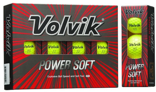 Piłki golfowe VOLVIK POWER SOFT (żółty)