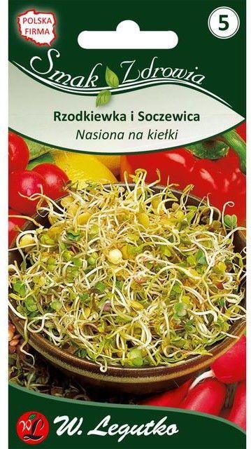 Nasiona na kiełki RZODKIEWKA 20g Legutko
