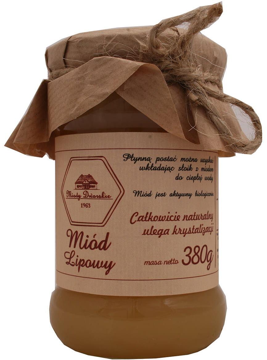Miód lipowy 380g Miody Dworskie