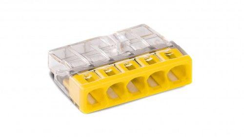 Szybkozłączka WAGO Compact 5 x 0,5-2,5 mm2 transparentna