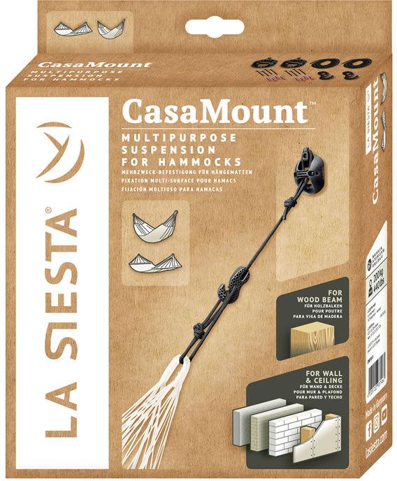 Zestaw mocujący do hamaka Casa Mount Black, czarny CMF30-9