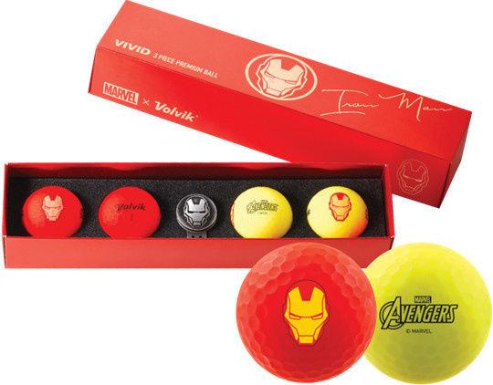 Piłki golfowe VOLVIK + MARVEL Iron Man