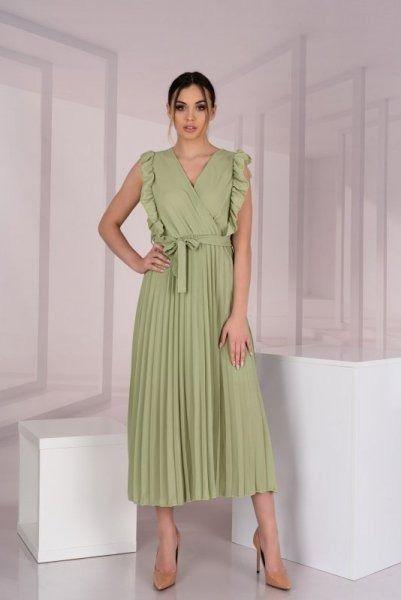 Merribel merlotina olive sukienka damska