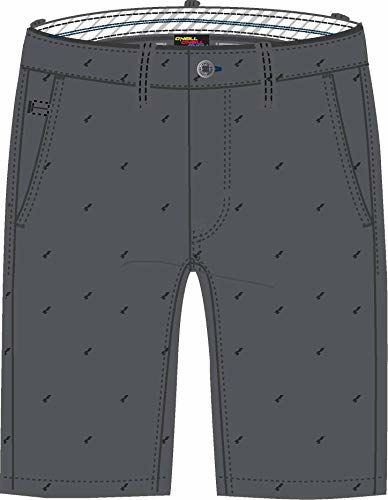 O''Neill LM Friday Night Chino SHORTS-8990 Grey AOP W/BLACK-34 spodnie kuzre, szare/czarne, 34
