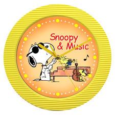 Zegar ścienny kolor Snoopy & music