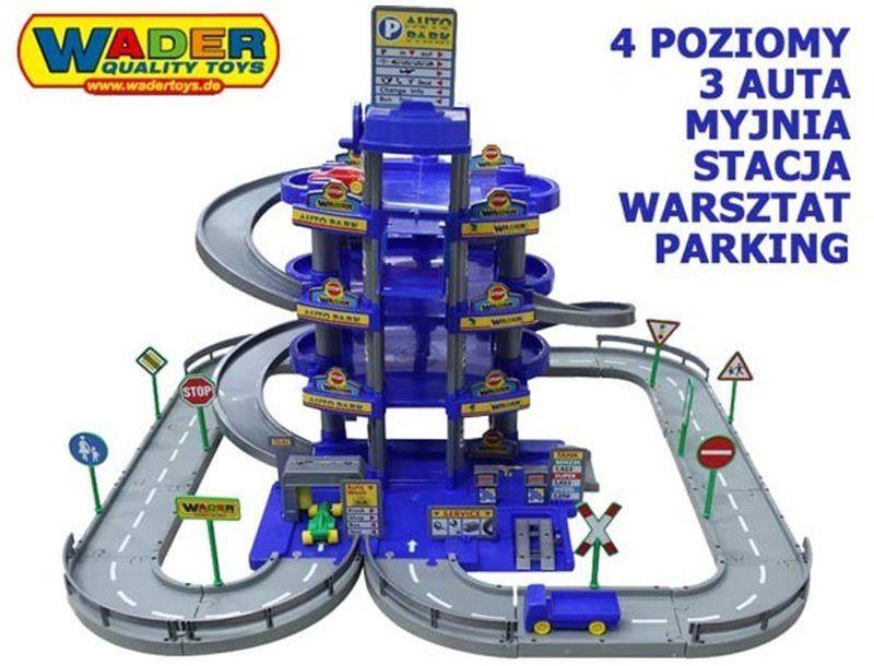 Wader Wielki garaż Auto Park Myjnia 4 poziomy