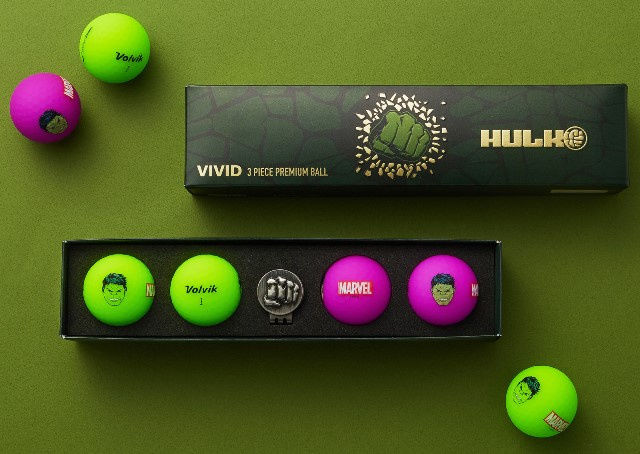 Piłki golfowe VOLVIK + MARVEL Hulk