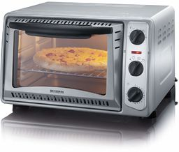 SEVERIN TO 2045 piekarnik i tostowy, 43 cm, wszechstronne zastosowanie do przygotowywania pizzy, frytek, smażenia lub zapiekanek, do pieczenia ciasta/srebra