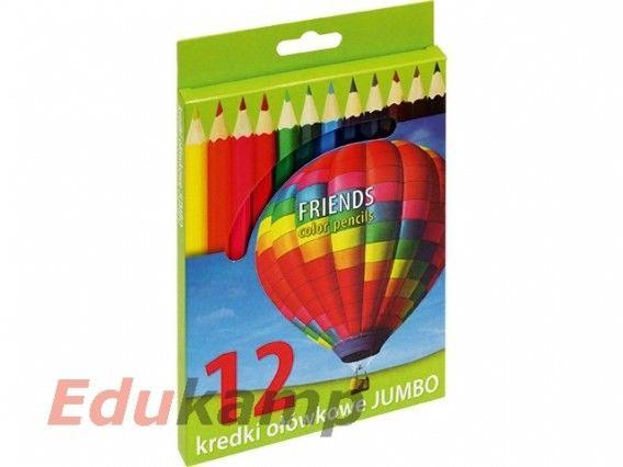 Kredki ołówkowe JUMBO, 12 kolorów