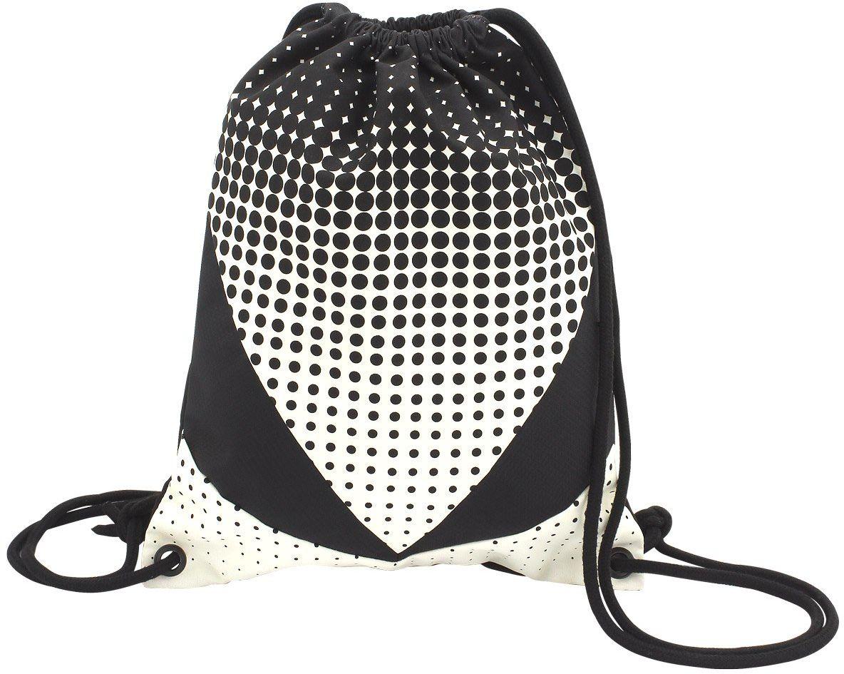 """toito wear Gymbag, poliester, """"Dot gradient"""", biały/czarny worek gimnastyczny, 43 cm, 10,5 l, biały/czarny"""