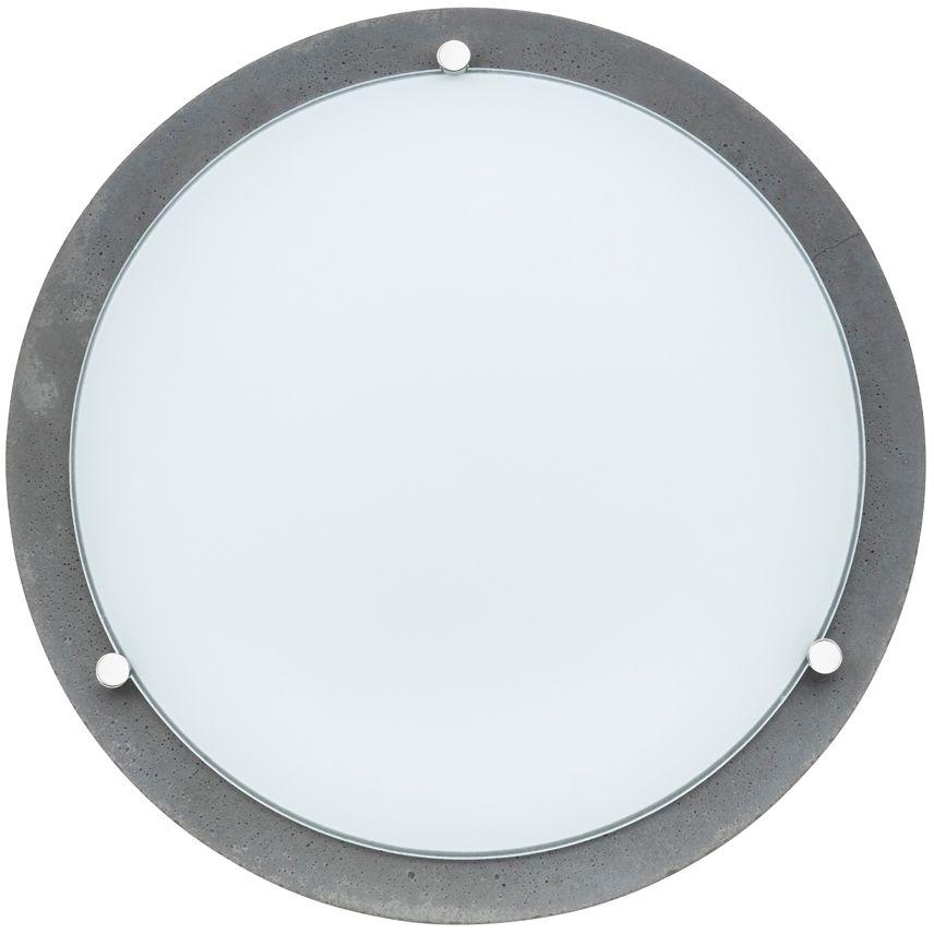 Spot Light 4754036 Rocky plafon lampa sufitowa beton szary klosz szkło biały 1xLED 18W 2700K IP20 40cm
