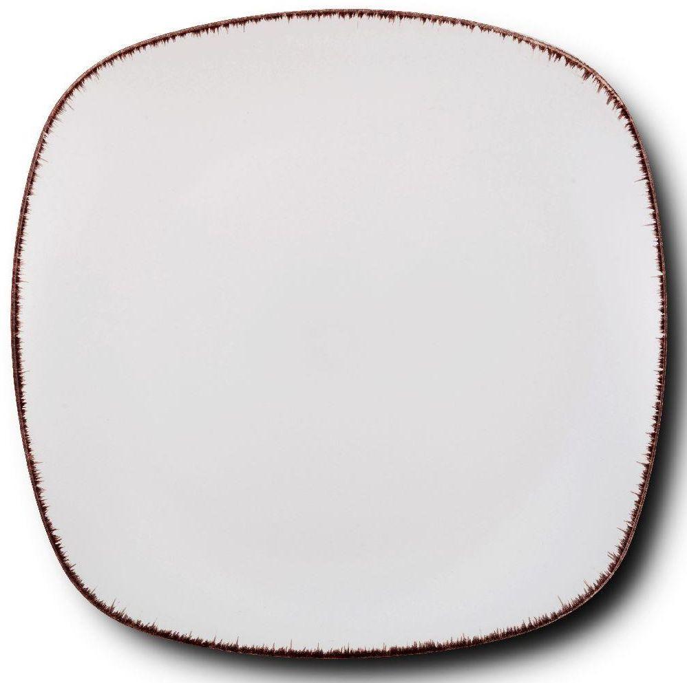 Talerz ceramiczny kwadratowy WHITE SUGAR obiadowy płytki na obiad 26 cm
