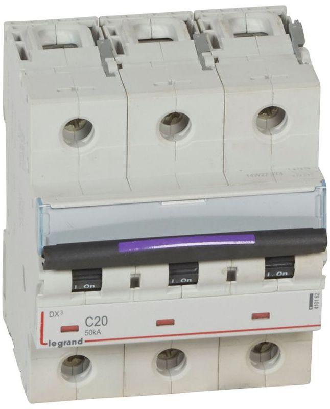 Wyłącznik nadprądowy 3P C 20A 50kA S323 DX3 410162