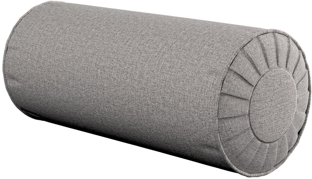 Poduszka wałek z zakładkami, szary, Ø20  50 cm, Edinburgh