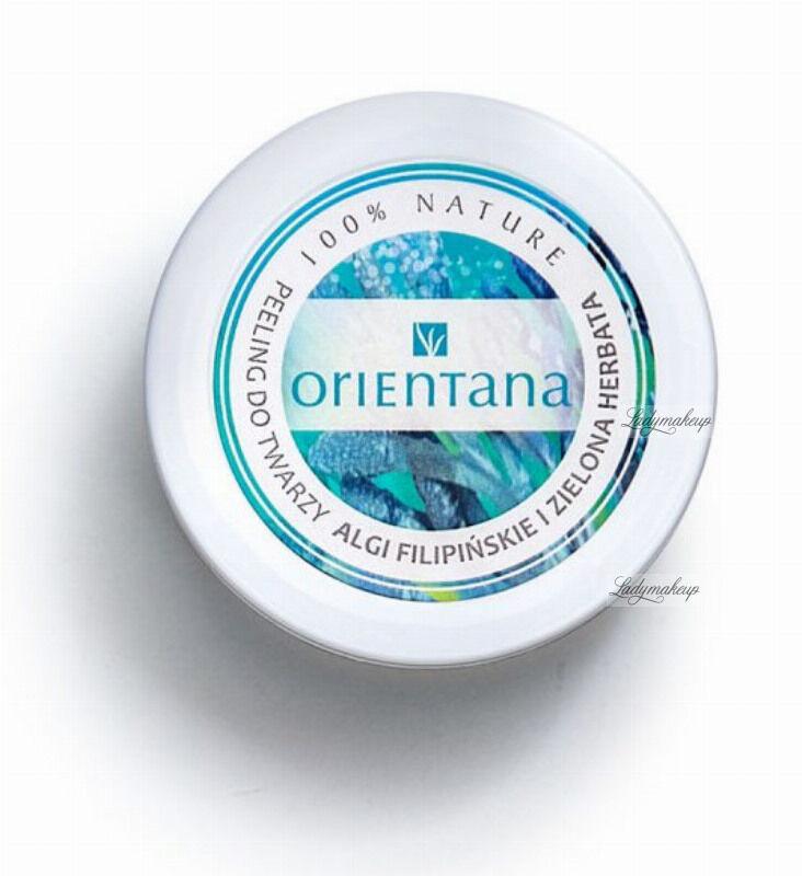 ORIENTANA - Natural Gel Face Scrub - Naturalny żelowy peeling do cery tłustej i mieszanej - Algi Filipińskie i Zielona Herbata - 50g