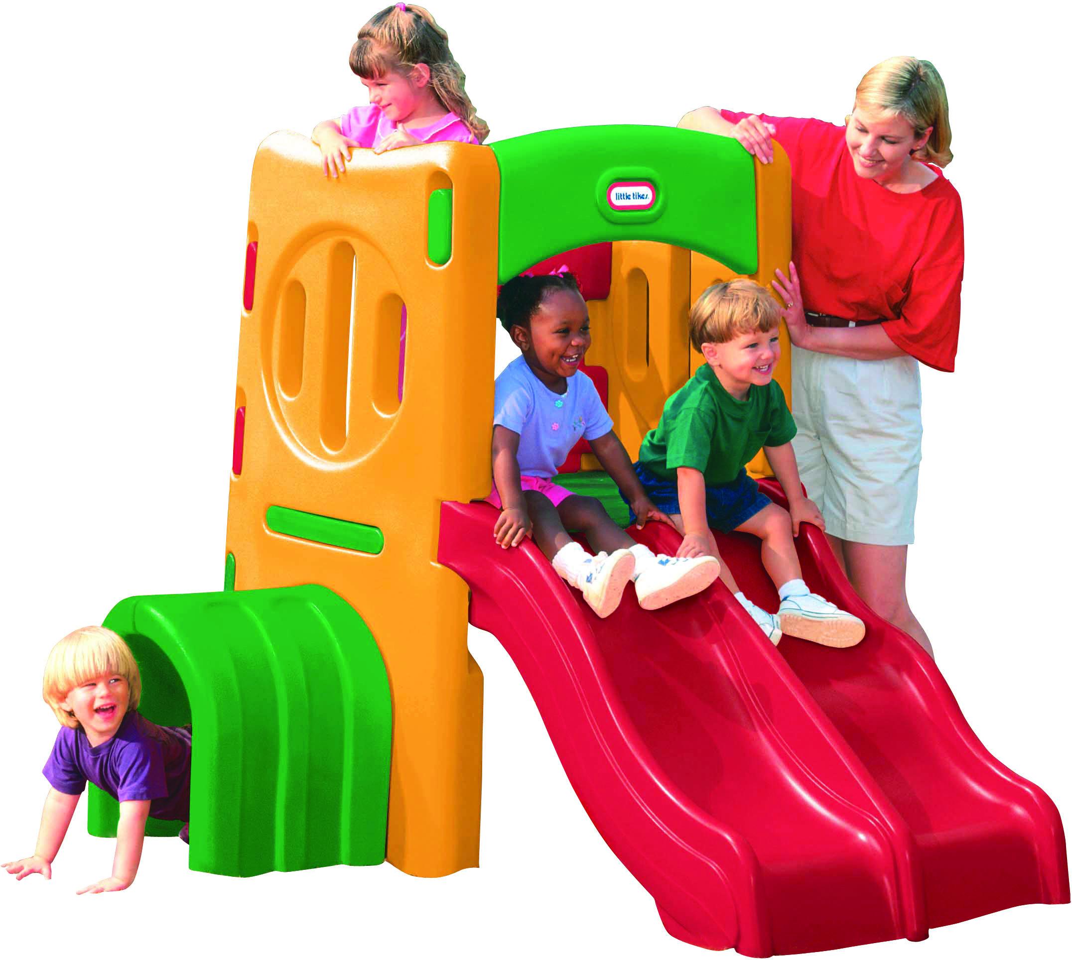 Plac zabaw z podwójną zjeżdżalnią LITTLE TIKES