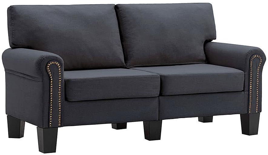 Luksusowa trzyosobowa sofa ciemnoszara - Alaia 2X