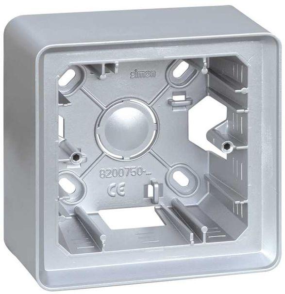 Simon 82 Puszka natynkowa 1-krotna aluminium 8200750-093