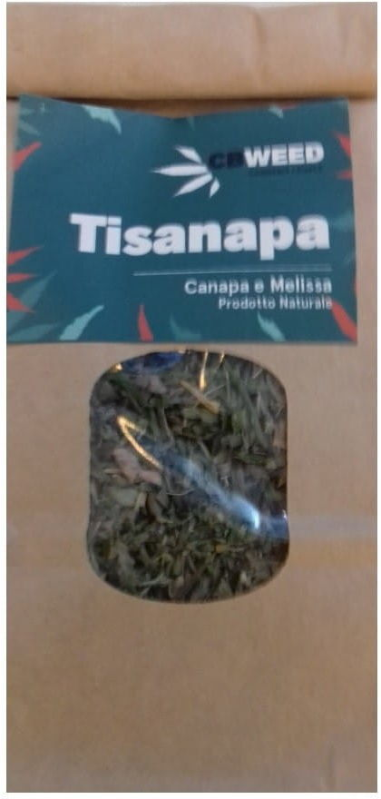 Tisanapa - Organiczna herbata konopna z melisą 25g koi nerwy , na problemy ze snem