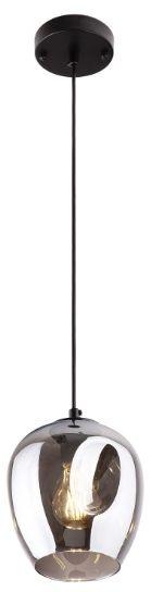Maxlight Spirit 1 Smoky Grey P0289 lampa wisząca metal czarna klosz szkło przydymione 1x60W E27 17cm