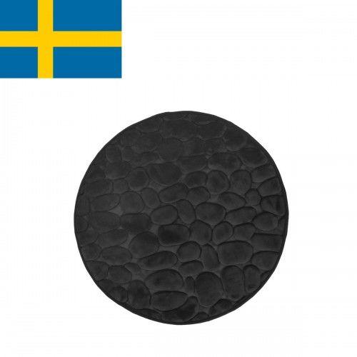Dywanik łazienkowy Czarny, fi 60cm