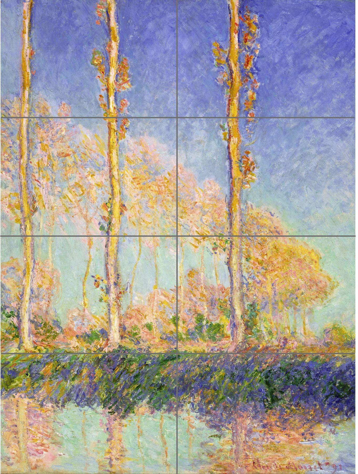 Artery8 Claude Monet plakat topoli francuskich, XL, 8 części