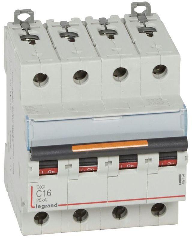 Wyłącznik nadprądowy 4P C 16A 25kA S324 DX3 409794