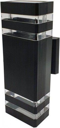 Kinkiet, lampa ogrodowa VELA II 2 x GU10 IP54 - czarny