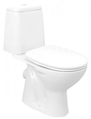 WC kompakt, poziomy odpływ, mechanizm spłukujący