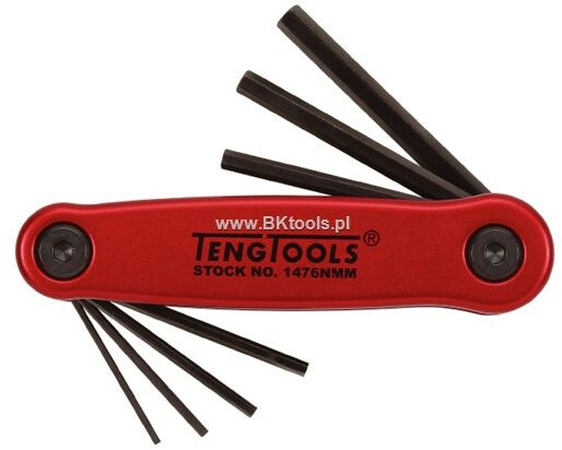 Klucze imbusowe zestaw 1.5-6 mm 7 szt 151470101 1476N MM-P1