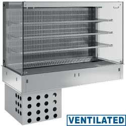 Regał chłodniczy 3-półki wentylowany 4x GN 1/1 1100W 230V -1  +7  1455x700x(H)1580mm