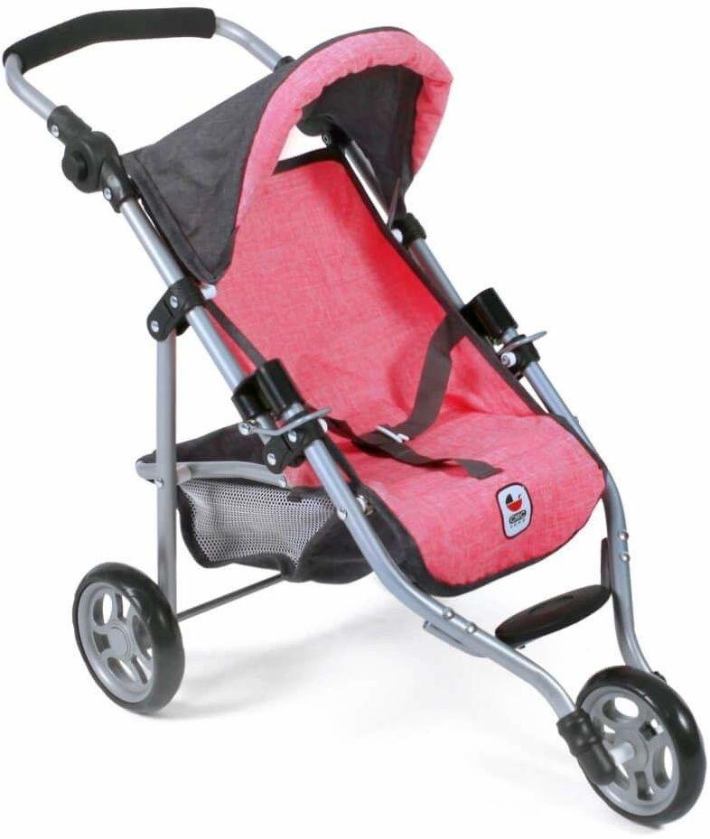 Bayer Chic 2000 612 41 Jogging Buggy Lola, wózek dla lalek, melanż antracytowy różowy