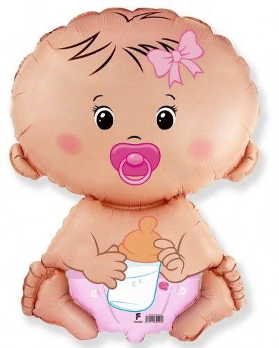 Balon foliowy Bobas dziewczynka