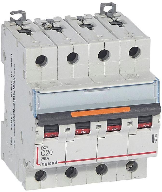 Wyłącznik nadprądowy 4P C 20A 25kA S324 DX3 409795
