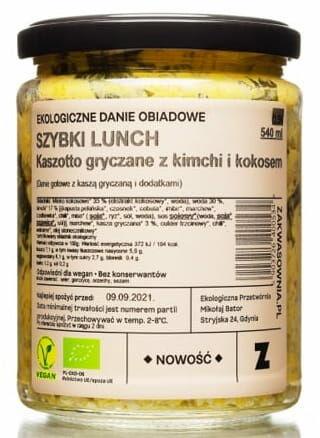 Danie kaszotto gryczane z kokosem i kimchi bio 540 ml - zakwasownia