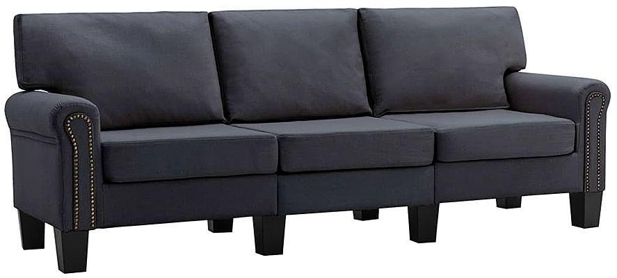 Luksusowa trzyosobowa ciemnoszara sofa - Alaia 3X