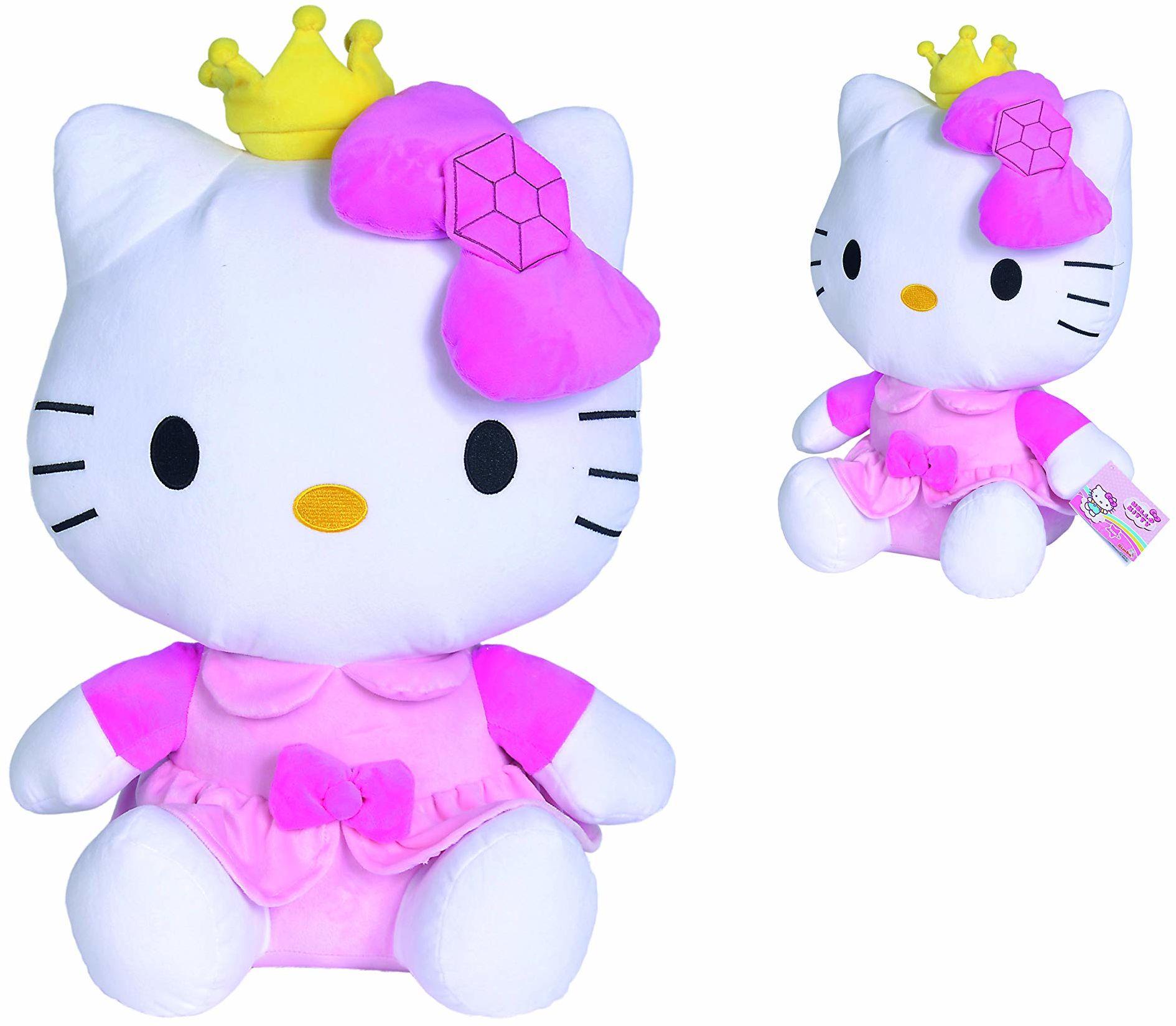 Simba 109281013 Hello Kitty plusz w stroju księżniczki, 50 cm