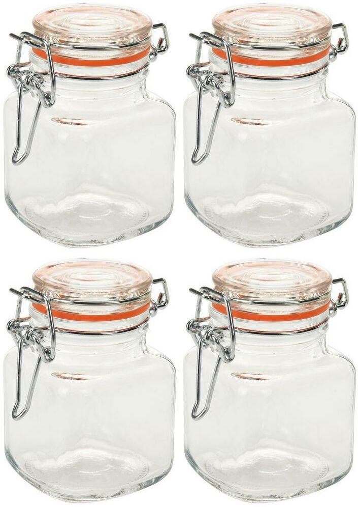 Słoik pojemnik szklany zestaw słoików 4 szt. 115 ml