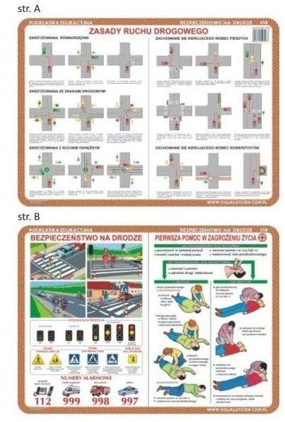 Podkładka edu. 058 - Zasady ruchu drogowego..