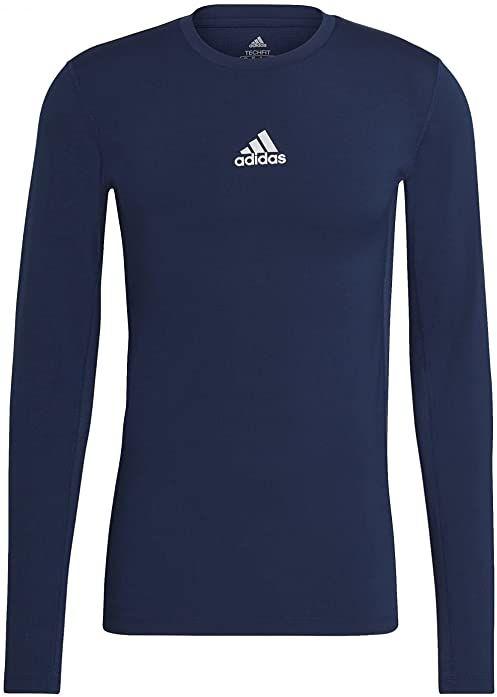 adidas Koszulka męska Techfit Compression Long Sleeve Tee niebieski Team Navy Blue XL